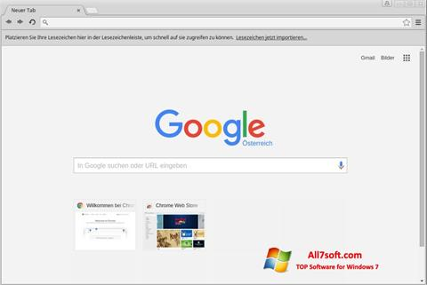 Captura de pantalla Google Chrome para Windows 7