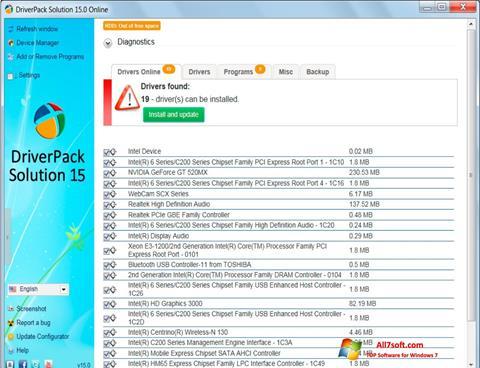 Captura de pantalla DriverPack Solution para Windows 7