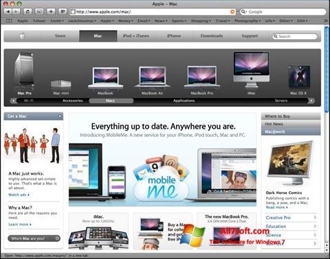 Captura de pantalla Safari para Windows 7
