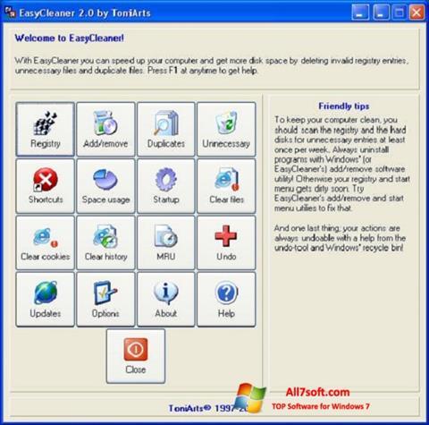 Captura de pantalla EasyCleaner para Windows 7