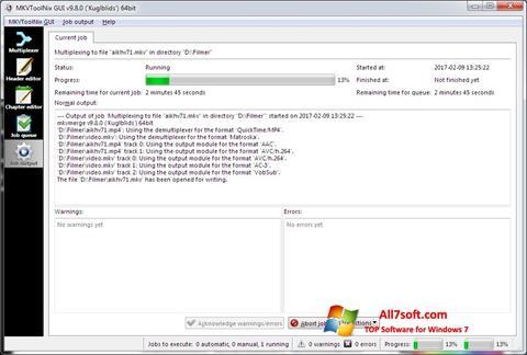 Captura de pantalla MKVToolnix para Windows 7