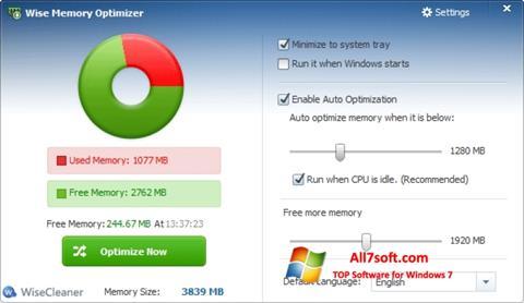 Captura de pantalla Wise Memory Optimizer para Windows 7