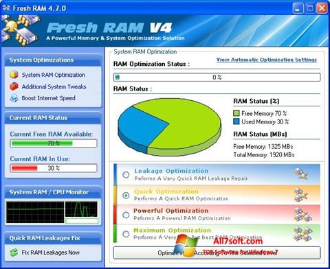 Captura de pantalla Fresh RAM para Windows 7