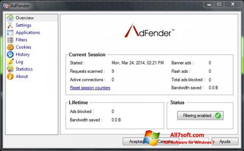 Captura de pantalla AdFender para Windows 7