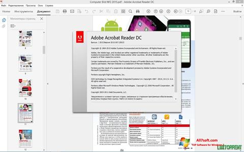 Captura de pantalla Adobe Acrobat Reader DC para Windows 7
