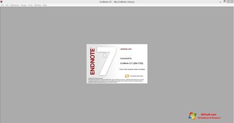 Captura de pantalla EndNote para Windows 7