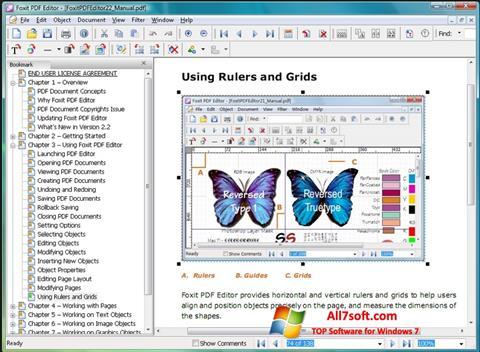 Captura de pantalla Foxit PDF Editor para Windows 7