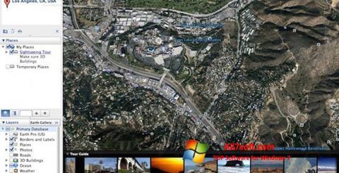 Captura de pantalla Google Earth Pro para Windows 7