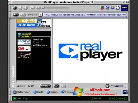Captura de pantalla RealPlayer para Windows 7