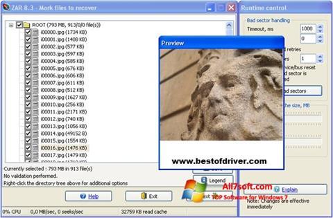 Captura de pantalla Zero Assumption Recovery para Windows 7