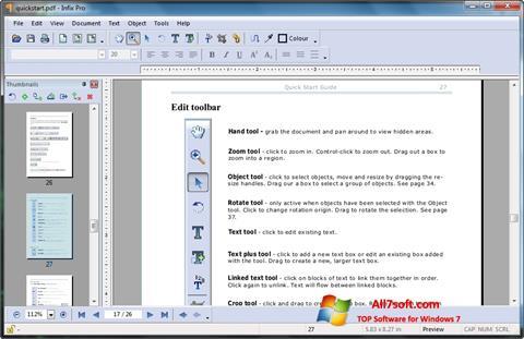 Captura de pantalla Infix PDF Editor para Windows 7