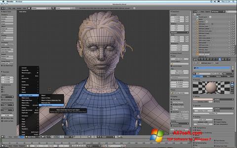 Captura de pantalla Blender para Windows 7