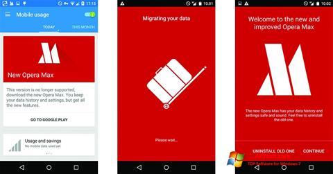Captura de pantalla Opera Max para Windows 7