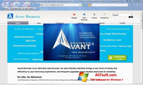 Captura de pantalla Avant Browser para Windows 7