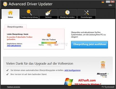 Captura de pantalla Advanced Driver Updater para Windows 7