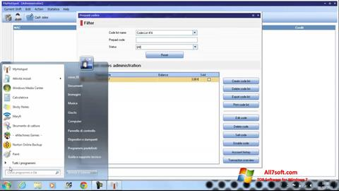 Captura de pantalla MyHotspot para Windows 7