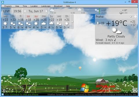 Captura de pantalla YoWindow para Windows 7