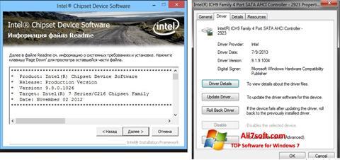 Captura de pantalla Intel Chipset para Windows 7