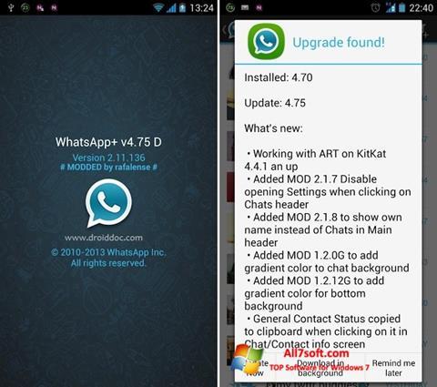 Captura de pantalla WhatsApp Plus para Windows 7