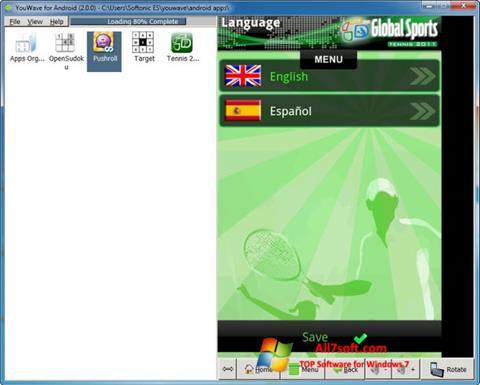 Captura de pantalla YouWave para Windows 7