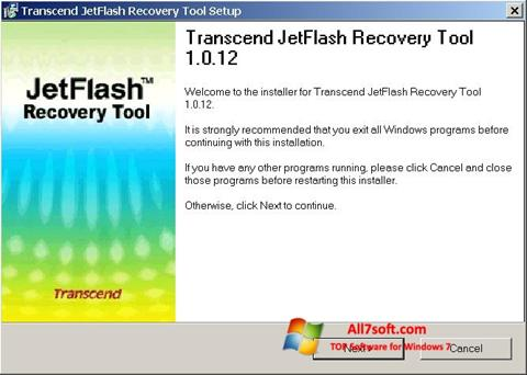 Captura de pantalla JetFlash Recovery Tool para Windows 7