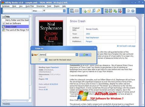Captura de pantalla All My Books para Windows 7
