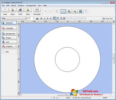 Captura de pantalla EPSON Print CD para Windows 7