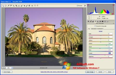 Captura de pantalla Adobe Camera Raw para Windows 7