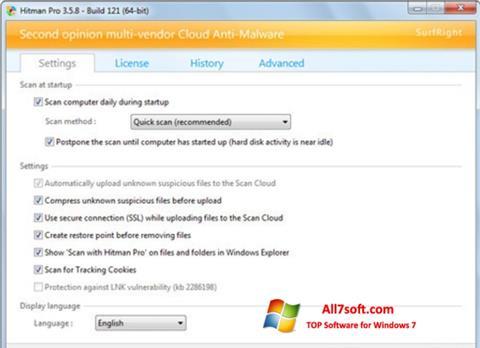 Captura de pantalla HitmanPro para Windows 7