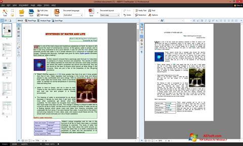 Captura de pantalla ABBYY FineReader para Windows 7