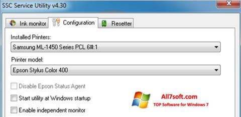 Captura de pantalla SSC Service Utility para Windows 7