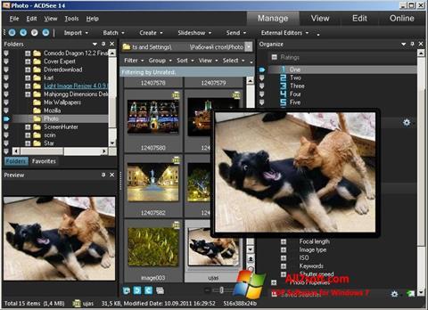 Captura de pantalla ACDSee Photo Manager para Windows 7