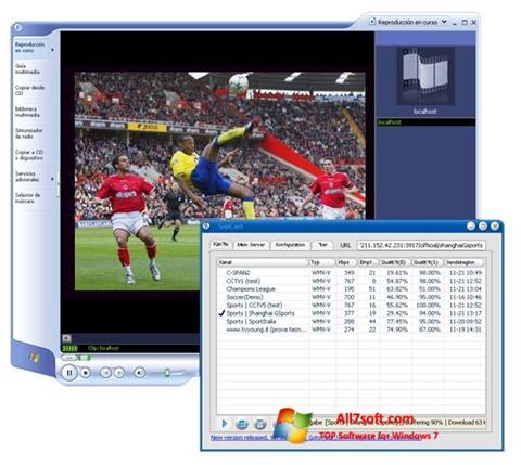 Captura de pantalla SopCast para Windows 7