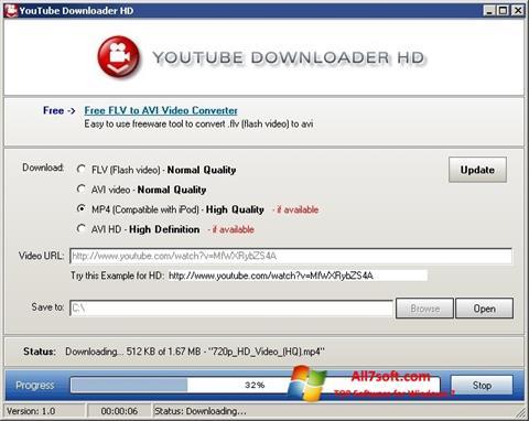 Captura de pantalla Youtube Downloader HD para Windows 7