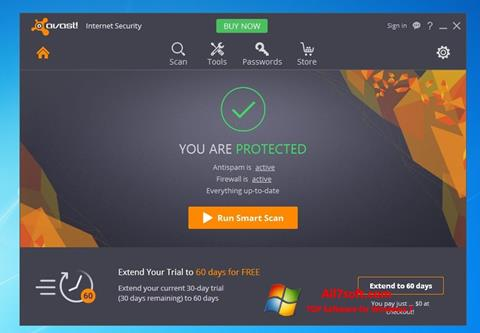 Captura de pantalla Avast Internet Security para Windows 7