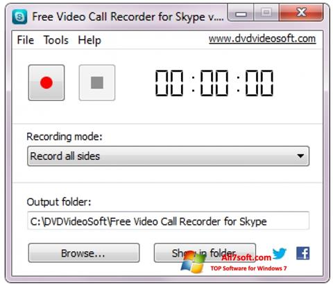 Captura de pantalla Free Video Call Recorder for Skype para Windows 7