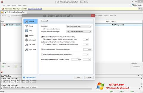 Captura de pantalla GoodSync para Windows 7