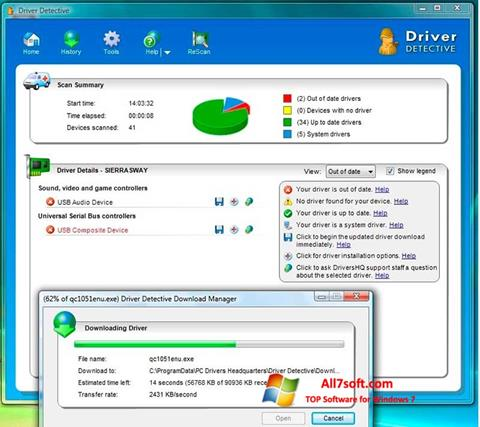 Captura de pantalla Driver Detective para Windows 7