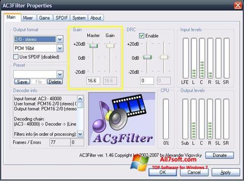 Captura de pantalla AC3Filter para Windows 7