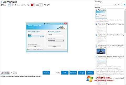 Captura de pantalla AeroAdmin para Windows 7