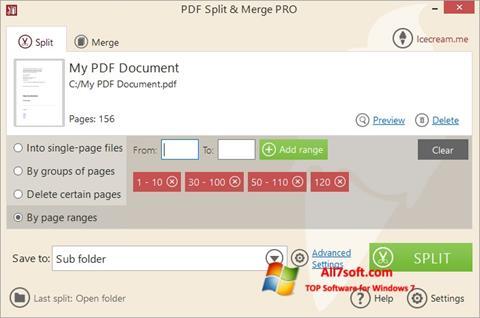 Captura de pantalla PDF Split and Merge para Windows 7