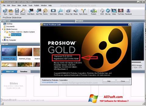 Captura de pantalla ProShow Gold para Windows 7