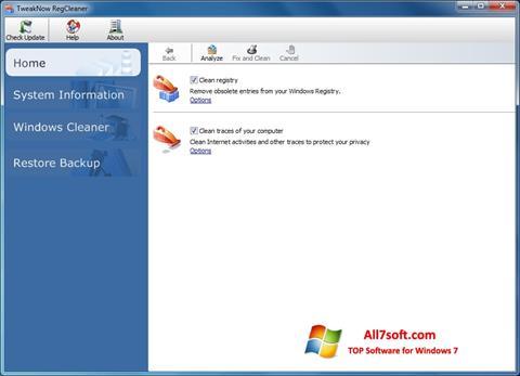 Captura de pantalla TweakNow RegCleaner para Windows 7