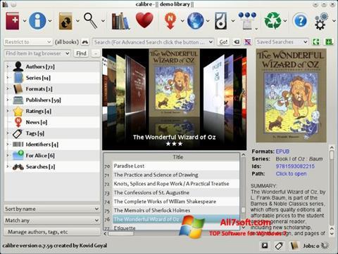 Captura de pantalla Calibre para Windows 7