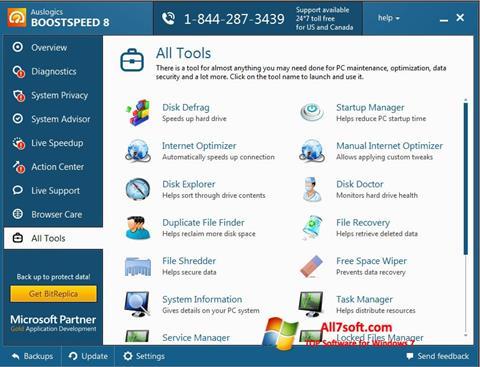 Captura de pantalla Auslogics BoostSpeed para Windows 7