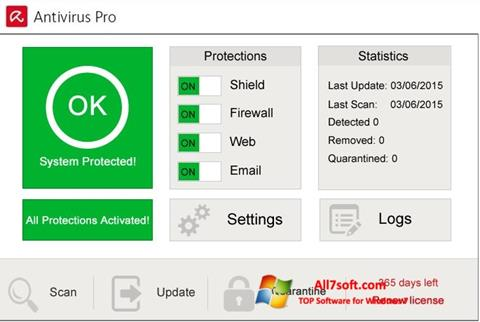 Captura de pantalla Avira Antivirus Pro para Windows 7