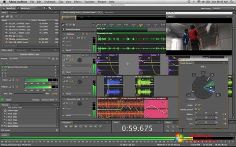 Captura de pantalla Adobe Audition para Windows 7