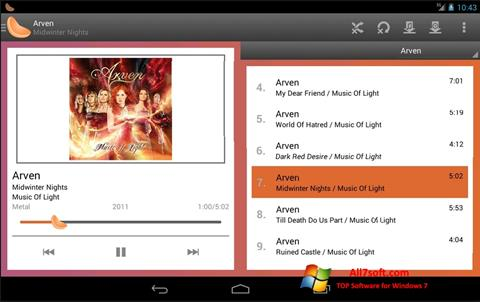 Captura de pantalla Clementine para Windows 7