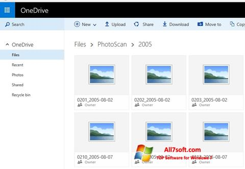 Captura de pantalla OneDrive para Windows 7