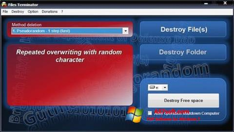 Captura de pantalla Files Terminator para Windows 7